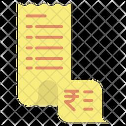 Invoice Rupees Icon