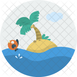 Island, Beach, Sea, Water, Holiday Icon png