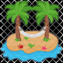 Island Hammock Icon