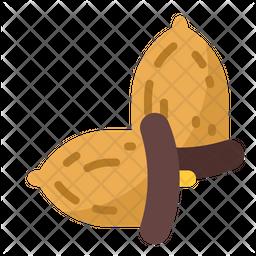 Isolated Hazelnut Icon