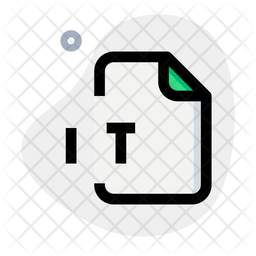 It File Colored Outline Icon