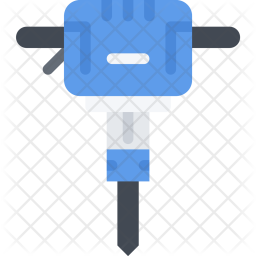 Jackhammer, Builder, Building, Construction, Repair Icon