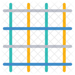 Jail Colored Outline Icon