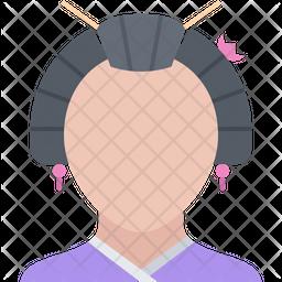 Japaneses woman Icon