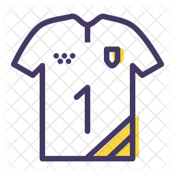 Jersey Colored Outline Icon