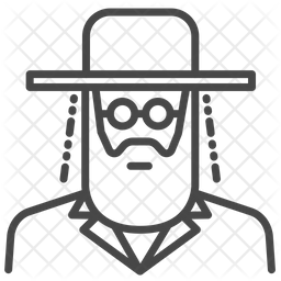 Jewish Line Icon