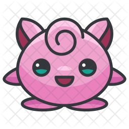 Jigglypuff Colored Outline Icon