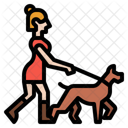 Jogging With Dog Icon