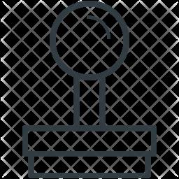 Joystick Line Icon
