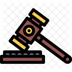Judge, Hammer, Law, Crime, Court, Police Icon