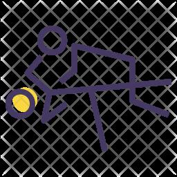 Judo Colored Outline Icon