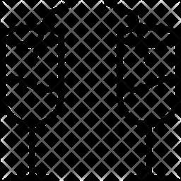 Juice Glass Line Icon