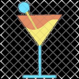 Juice Glass Flat Icon
