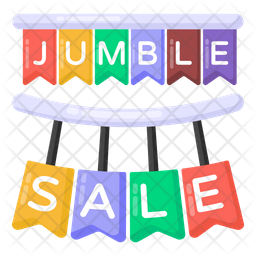 Jumble Sale Flat Icon