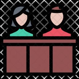 Jury, Law, Crime, Judge, Court, Police Icon