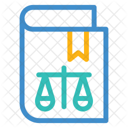 Justice Book Colored Outline Icon