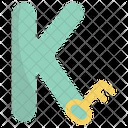 K Flat Icon