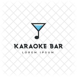 Karaoke Logo Colored Outline Icon