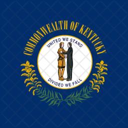 Kentucky Flat  Flag Icon