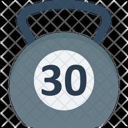 Kettlebell Ball Icon