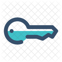 Key Colored Outline Icon