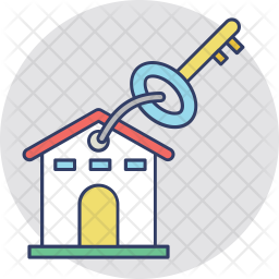 Key chain Colored Outline Icon