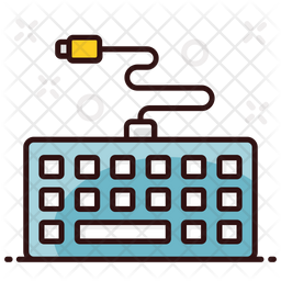 Keyboard Colored Outline Icon