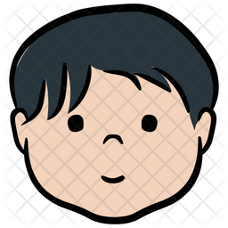 Kid Colored Outline Icon