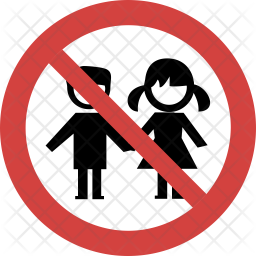 Kids not allowed Icon of Flat style - Available in SVG ...