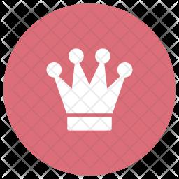 King Glyph Icon