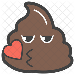 Kiss Poop Icon