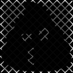 Kiss Poop Emoji Icon