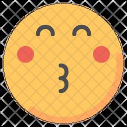 Kissed Emoji Icon