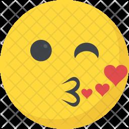 Kissing Emoji Icon