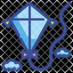 Kite Colored Outline Icon