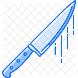 Knife Colored Outline Icon