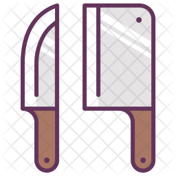 Knives Icon Of Colored Outline Style Available In Svg Png Eps Ai Icon Fonts
