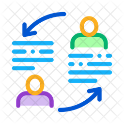 Knowledge Sharing Colored Outline Icon