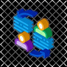 Knowledge Sharing Isometric Icon