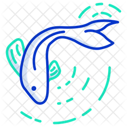 Koi Fish Icon Of Colored Outline Style Available In Svg Png Eps Ai Icon Fonts