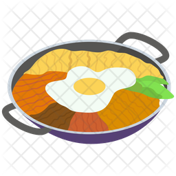 Korean Cuisine Pan Icon