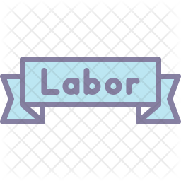 Label Colored Outline Icon