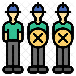 Labor Cost Reduction Colored Outline Icon