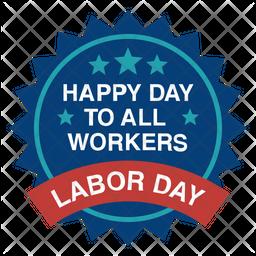 Labor Day Badge Icon