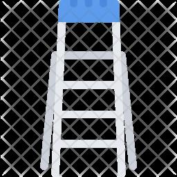 Ladder, Builder, Building, Construction, Repair Icon