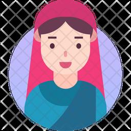 Lady Gradient Icon