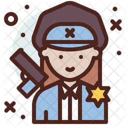 Lady Officer Icon
