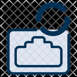 Lan Connecting Icon