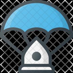 Landing parachute Icon