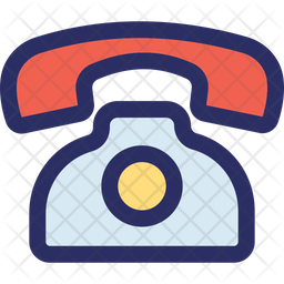 Landline Set Icon Of Colored Outline Style Available In Svg Png Eps Ai Icon Fonts